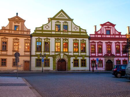 Hradec Kralove old town in Czech Republic