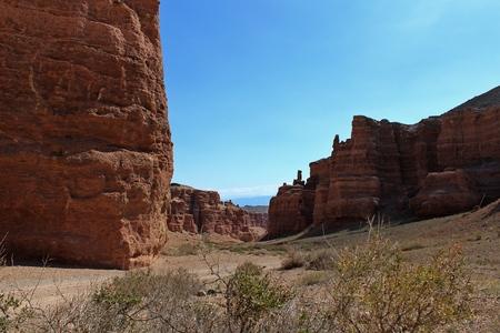 non urban: Charyn canyon in the Kazakhstan Stock Photo