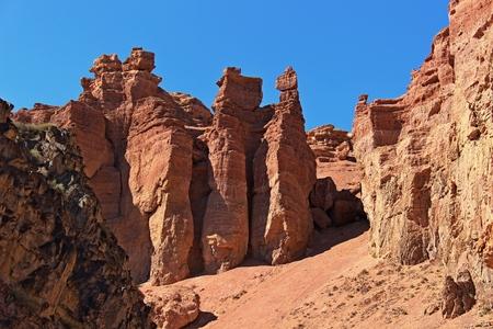kazakhstan: Charyn canyon in the Kazakhstan Stock Photo