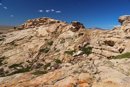 kazakhstan: Desert mountains Bektau-Ata, Kazakhstan Stock Photo