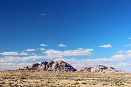 Desert mountains Bektau-Ata, Kazakhstan Stock Photo