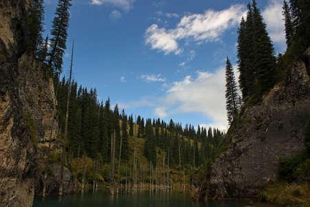 tien shan: Kaindy Lake in Tien Shan mountain, Kazakhstan.