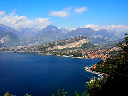 Lake Lago di Garda, Italy Stock Photo