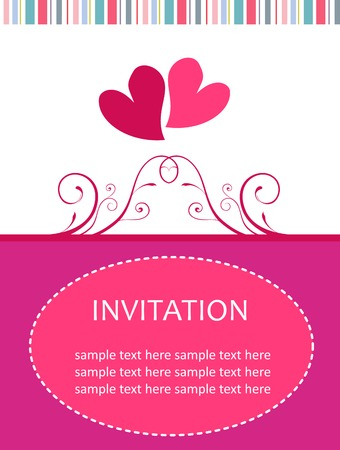 Invitation card Stock Vector - 4986847