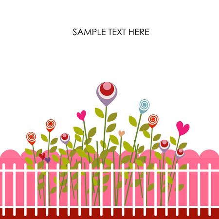 symbol fence: Greeting card