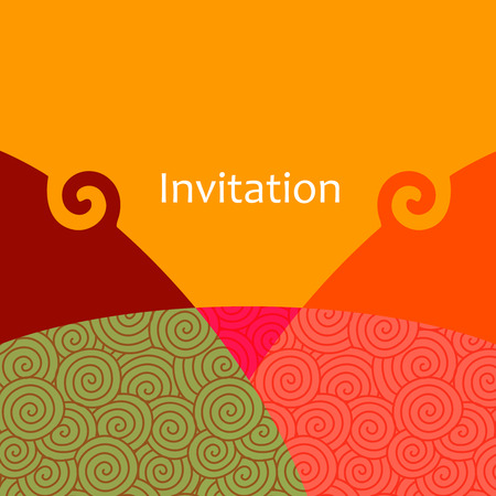 pages template: Invitation card