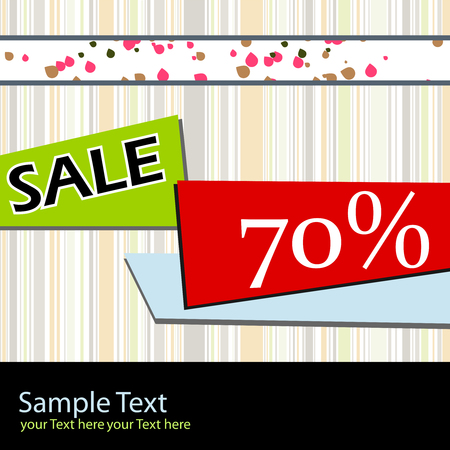 sale poster Stock Vector - 4986846