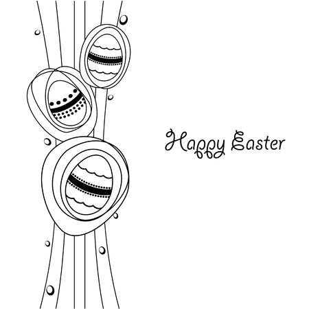 Easter eggs - illustration Illustration
