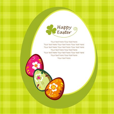 Decorative easter eggs. greeting card. Stock Vector - 6589542