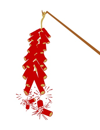 Vector Fire Cracker for Chinese New Year Illustration