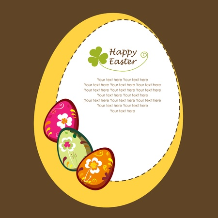 Decorative easter eggs. greeting card Illustration