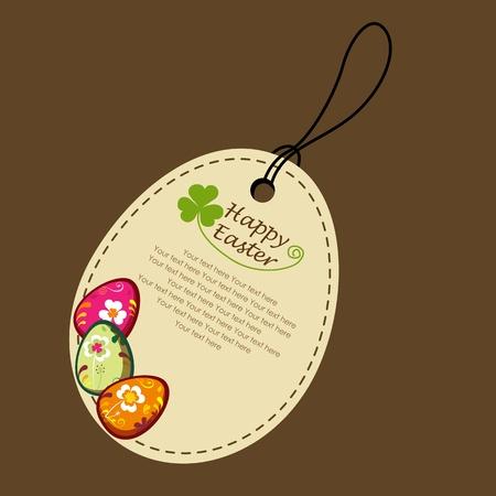 Decorative easter eggs. greeting card Illustration