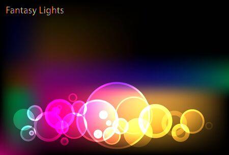 Fantastic Glittering Lights Background