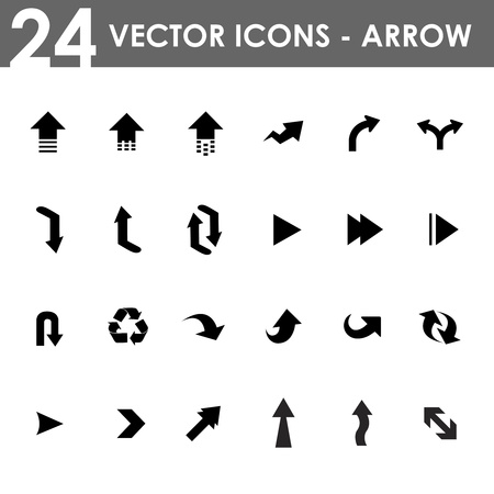 back button: Arrow Icons Set