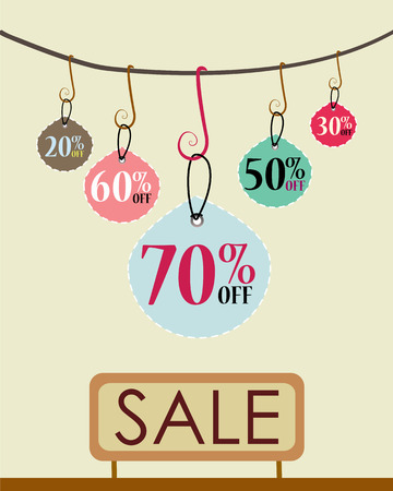 Sales Tags - sale poster template Vector