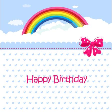 Birthday celebration card - Art Vector Illustration