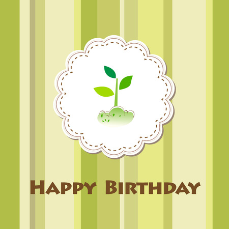 vector birthday card Stock Vector - 8718903