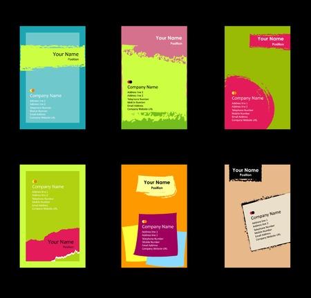various business card set Stock Vector - 8859222