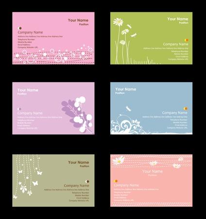 name card design: Various business cards Illustration