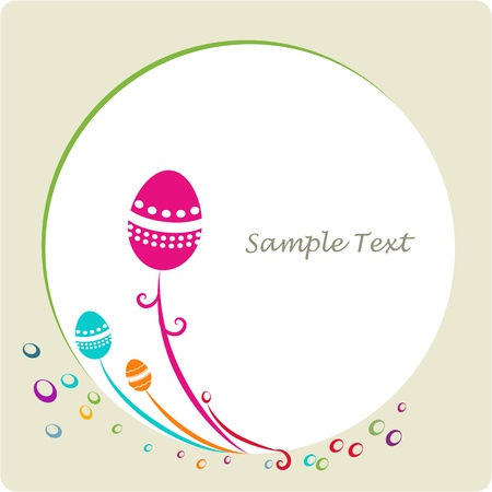 easter ornamental decorative frame Vector