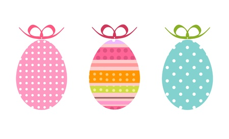 painted easter eggs as gifts Vector