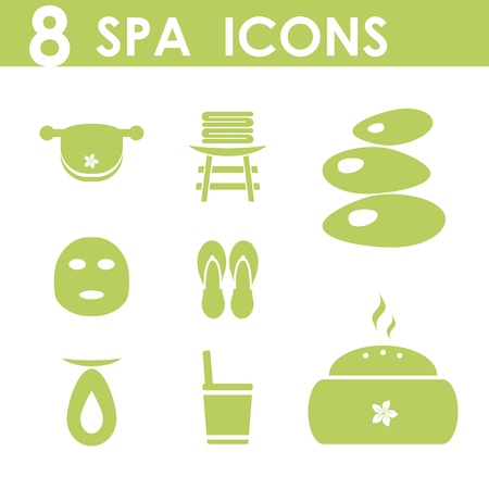 spa resort: spa icons set Illustration