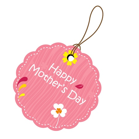 gift tag: Happy mothers day tag Illustration