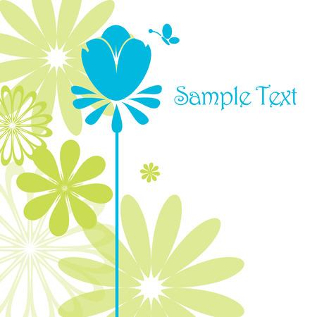 flores de cumplea�os: eres especial - tarjeta de felicitaci�n Vectores