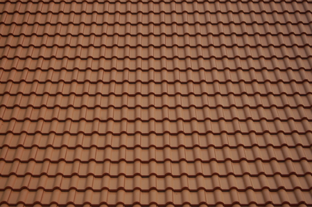 roofing: Tile roof of Buddhist temple.