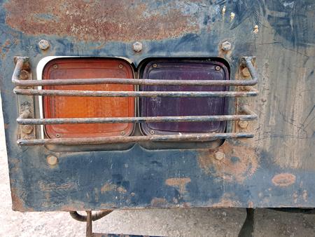 vintage truck: Vintage Truck Rear light, rusty on taillight.