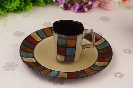 ceramics: China ceramics plate and cup