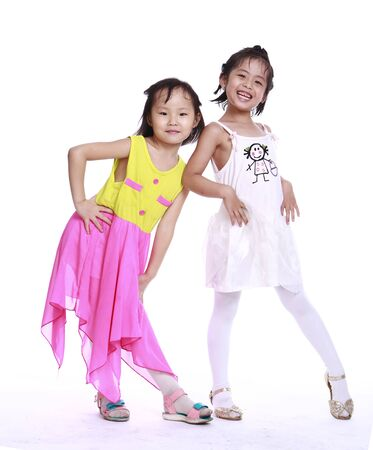 lively: Two lively little girl