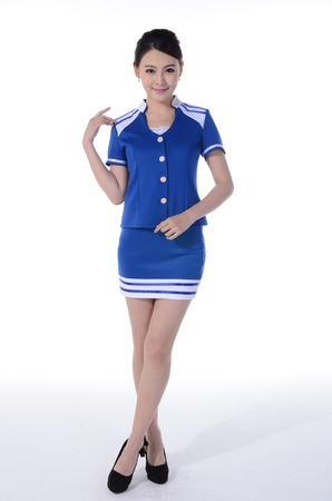 active wear: Active girl wear professional attire in front of a white background