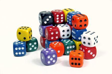 lasvegas: Broken cube of colorful casino dices