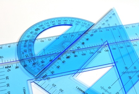 protractor: Architecture tools - Ruler, triangle and protractor