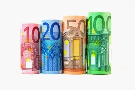 Währung - Euro-Banknoten Standard-Bild