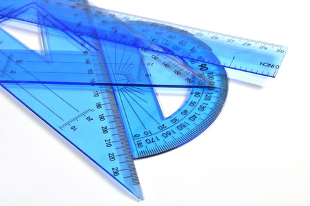 square ruler: Architecture tools - Ruler, triangle and protractor