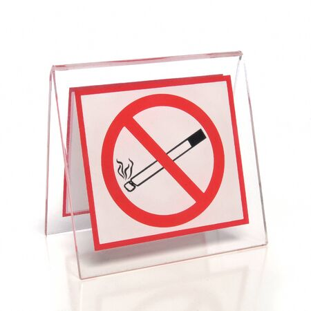 No smoking sign on white background photo