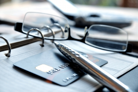 credit card bills: Business Still Life