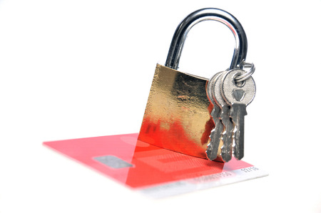 cvv: Secure credit card payment  Stock Photo