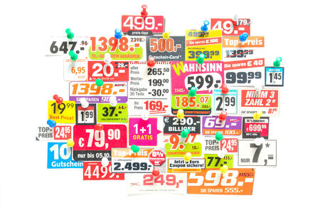 adverts: Sale - Multicolored newspaper adverts