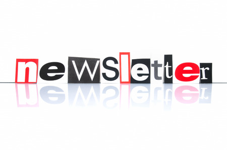Newsletter with newspaper letters