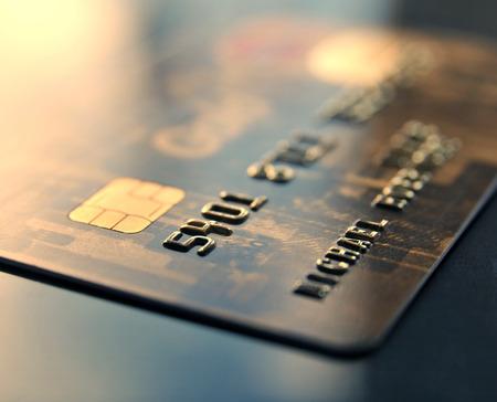 Gold Credit Card  Standard-Bild