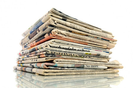 Pile of newspapers photo