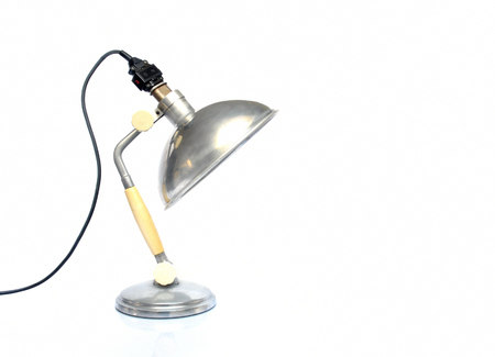 colo: Vintage lamp on white background