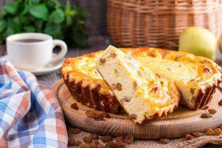 レーズンとチーズのキャセロール