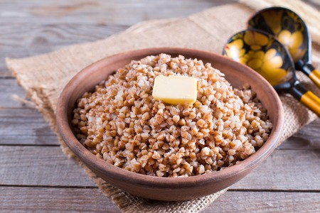 Buckwheat porridge with butter - healthy eating