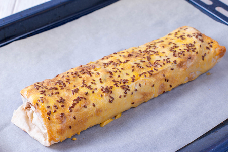 Lavash roll with filling. Healthy diet. Snack