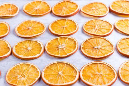 Dried Orange Slices on a white background Stockfoto