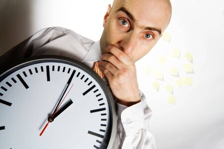 rushed:  very busy businessman is also one who is very sensitive to timeliness and being on time. Time is money...  Stock Photo